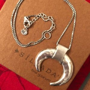 Silpada Sterling Silver Crescent Necklace N3229